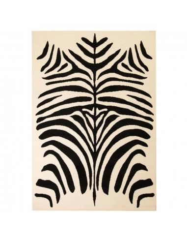 Modernus kilimas, zebro raštas, 80x150cm, smėlio sp./juodas   Kilimėliai   duodu.lt