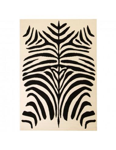 Modernus kilimas, zebro raštai, 120x170 cm, smėlio/juodas | Kilimėliai | duodu.lt