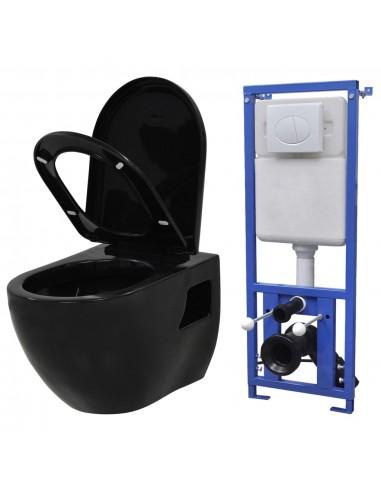 Pakabinamas klozetas su paslėptu bakeliu, keramika, juodas  | Klozetai | duodu.lt