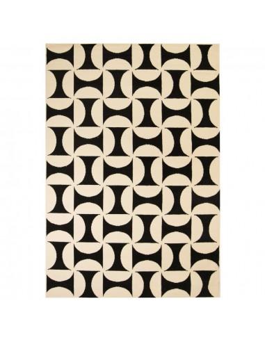 Modernus kilimas, geometr. raštas, 120x170cm, smėlio/juodas | Kilimėliai | duodu.lt