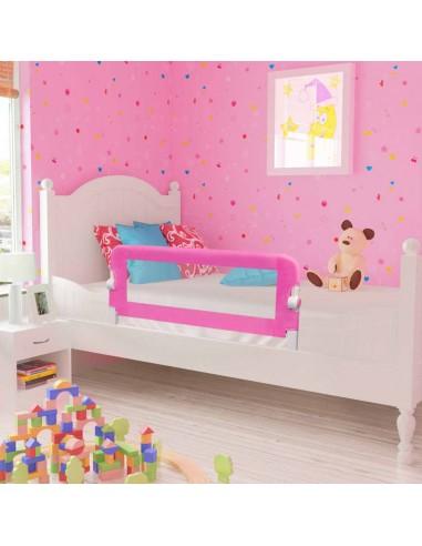 Apsauginiai turėklai kūdikio lovai, 2vnt., rož. sp., 102x42 cm   Apsauginiai turėklai kūdikiams   duodu.lt