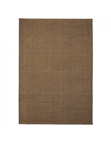 Sizalio išvaizdos vidaus/lauko kilimas, 140x200cm, rudas    Kilimėliai   duodu.lt