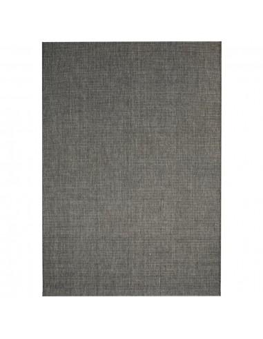 Sizalio išvaizdos vidaus/lauko kilimas, 140x200cm, tams. pilkas    Kilimėliai   duodu.lt