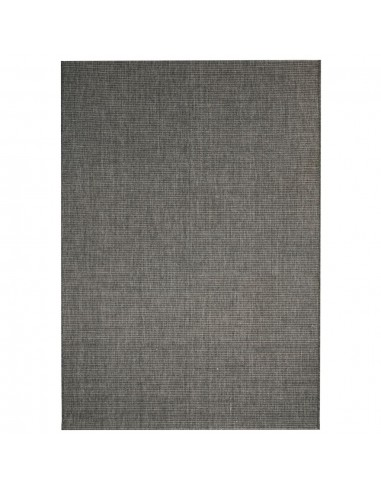 Sizalio išvaizdos vidaus/lauko kilimas, 160x230cm, tams. pilkas  | Kilimėliai | duodu.lt