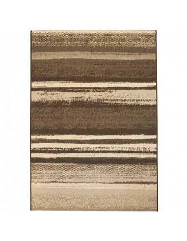 Sizalio išvaizdos vidaus/lauko kilimas, 120x170cm, juost.    Kilimėliai   duodu.lt