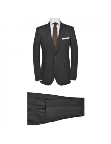 Vyriškas 2 dalių lininis kostiumas, 48 dydis, T. pilkos spalvos   Kostiumai   duodu.lt
