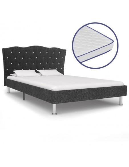 Dirbtinės odos lovos rėmas su LED, 140x200 cm, Baltas | Lovos ir Lovų Rėmai | duodu.lt
