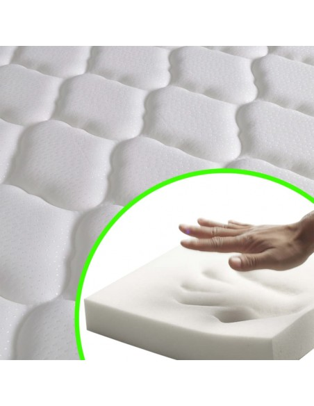 Dvigulė lova su Memory čiužiniu, balta, 180x200 cm | Lovos ir Lovų Rėmai | duodu.lt