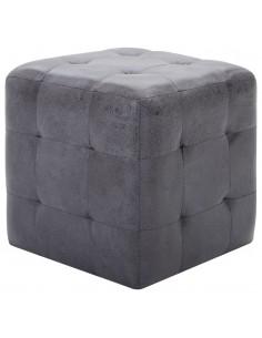 Valgomojo kėdės, 4vnt., aud. apmuš., 56x54x80cm, šviesiai pilk. | Virtuvės ir Valgomojo Kėdės | duodu.lt