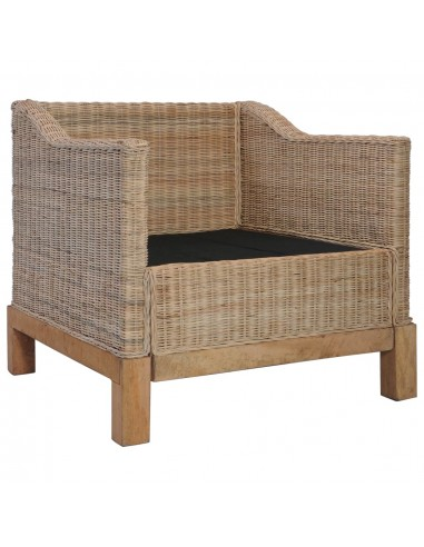 Supamoji sodo kėdė, sintetinis ratanas, juoda  | Supamosios Kėdės | duodu.lt