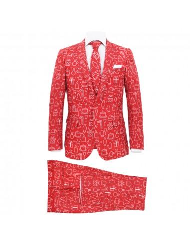 Vyriškas kalėdinis kostiumas su kakl., 2d., raud. sp., 52 dyd.   Kostiumai   duodu.lt
