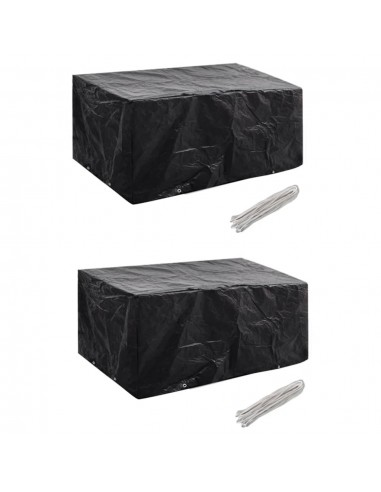 Sodo baldų uždangalai, 2 vnt., 180x140cm, poliratanas, 8 kilpos | Lauko Baldų Uždangalai | duodu.lt