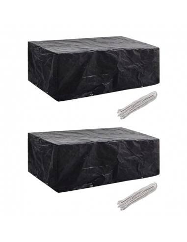 Sodo baldų uždangalai, 2vnt., 200x160x70cm, 8 kilpos (2x41643) | Lauko Baldų Uždangalai | duodu.lt