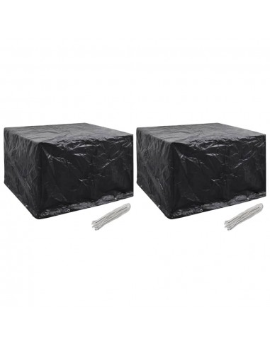 Sodo baldų uždangalai, 2vnt., 135x135x90 cm, 8 kilpos (2x41645) | Lauko Baldų Uždangalai | duodu.lt