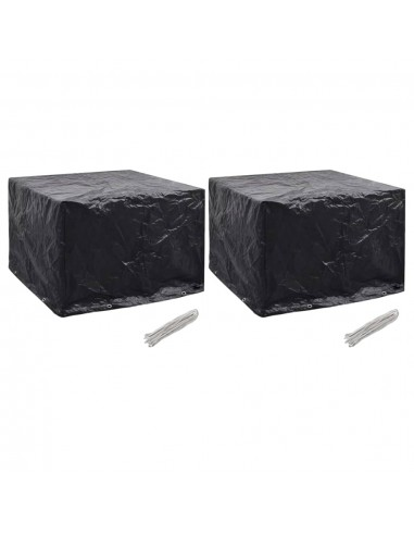 Sodo baldų uždangalai, 2vnt., 122x112x98 cm, 8 kilpos (2x45125)   Lauko Baldų Uždangalai   duodu.lt