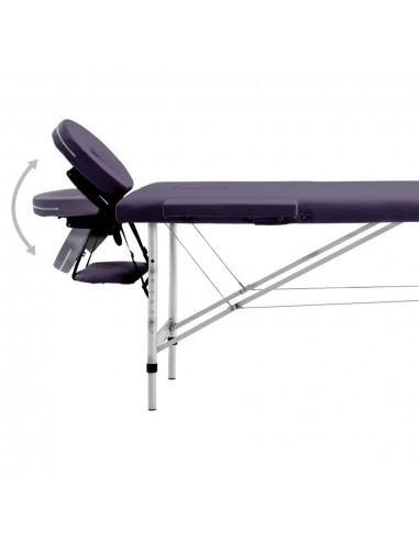 3 zonų sulankstomas masažinis stalas, 10 cm storio, baltas | Masažiniai Stalai | duodu.lt
