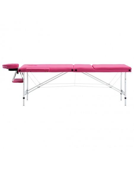3 zonų sulankstomas masažinis stalas, 10 cm storio, juodas | Masažiniai Stalai | duodu.lt