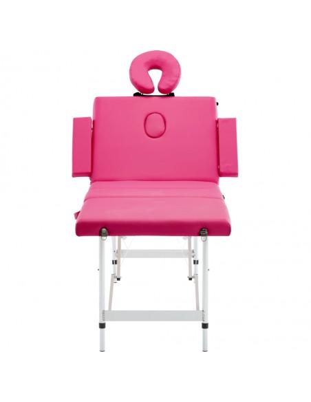 Sulanks. masaž. stalo ir kėdės komp., 3 zonų, 10cm stor., balt. | Masažiniai Stalai | duodu.lt