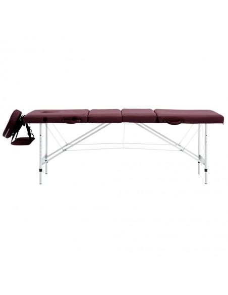 Sulankst. masažinis stalas, 10cm, su 2 atram., ovalas, baltas    Masažiniai Stalai   duodu.lt