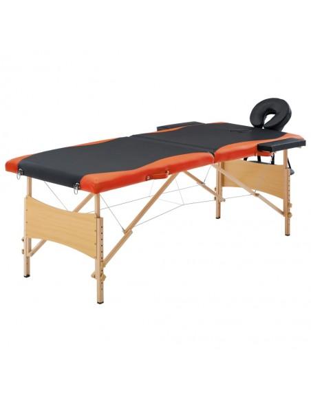 Sulankst. masaž. stal., 10 cm storio, su 2 atram., oval., juod. | Masažiniai Stalai | duodu.lt